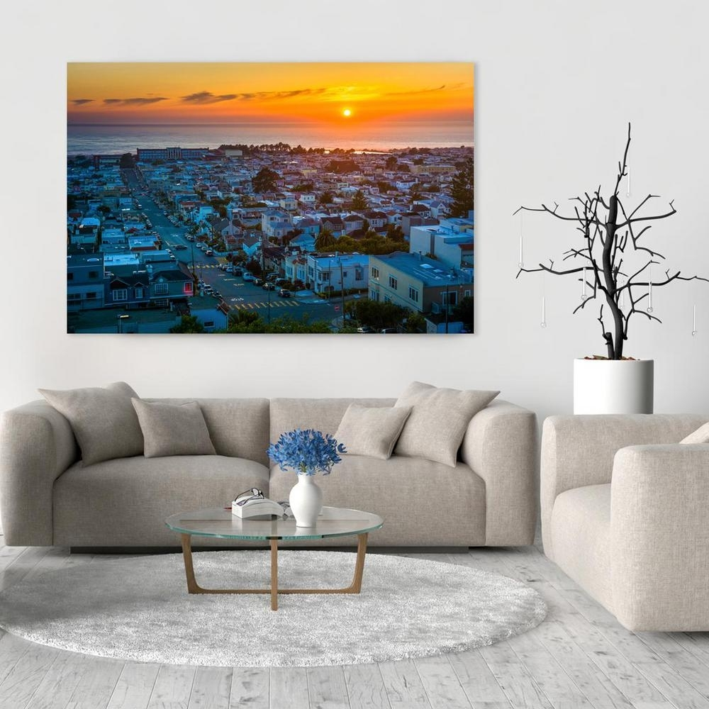"8 In. X 12 In. ""view Of The Sunset District And Pacific Ocean, San regarding California Wall Art (Image 6 of 20)"