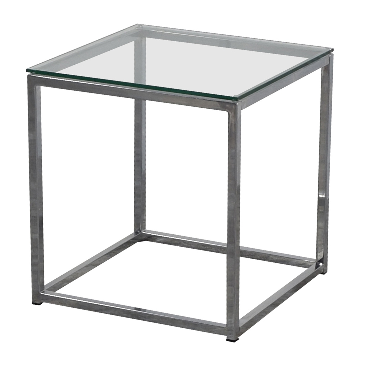 80% Off – Cb2 Cb2 Smart Glass Top Side Table / Tables Throughout Smart Glass Top Coffee Tables (View 1 of 30)