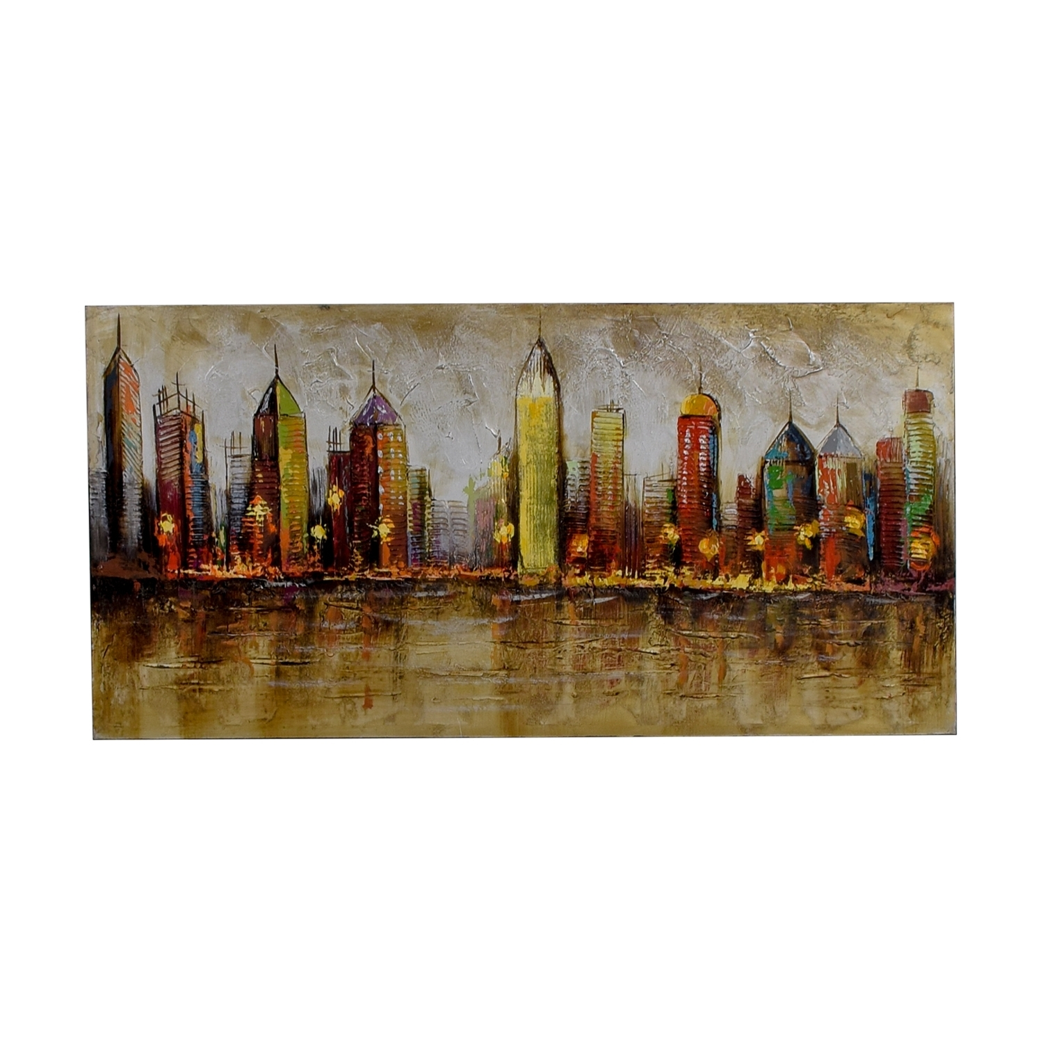 80% Off – Pier 1 Imports Pier 1 Imports Cityscape Painting / Decor Regarding Pier 1 Wall Art (Gallery 15 of 20)