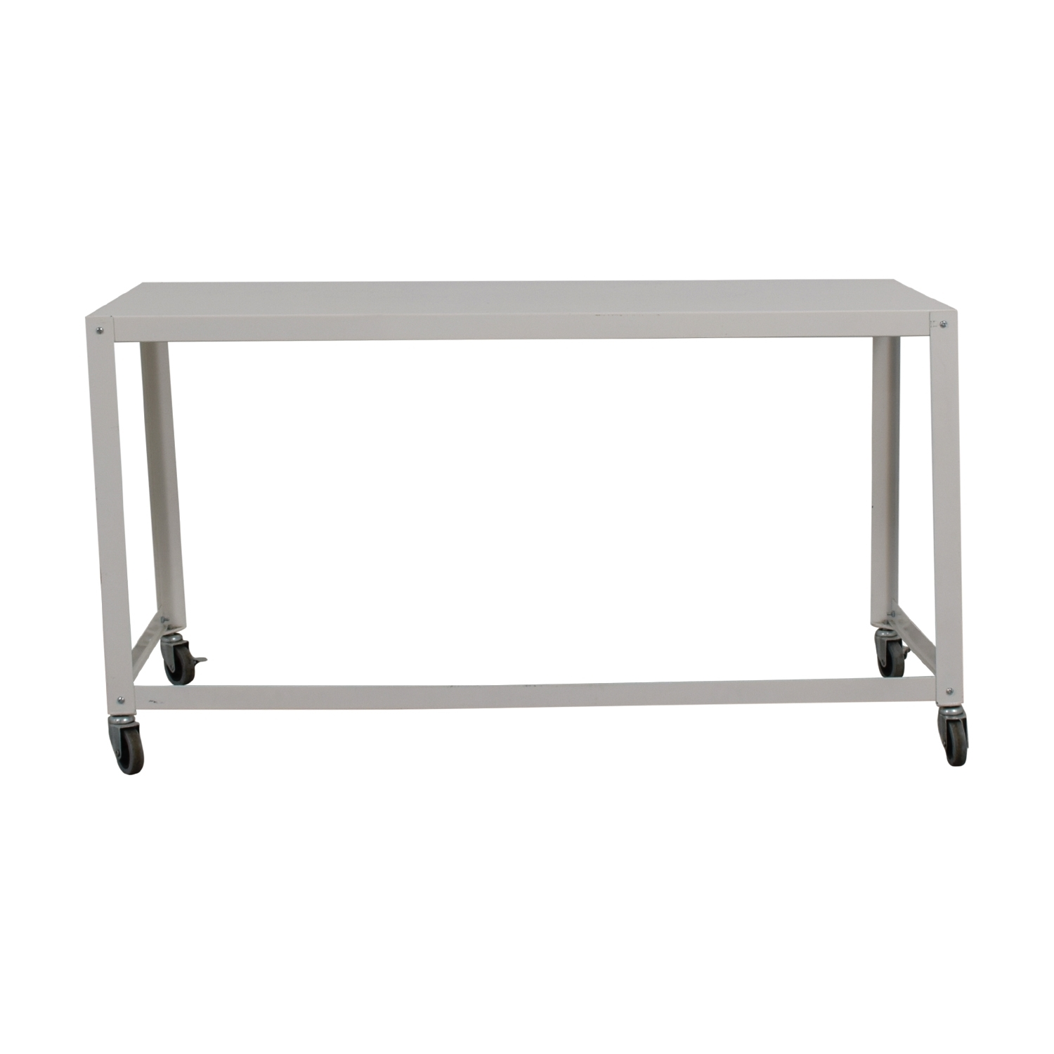 81% Off - Cb2 Cb2 Go-Cart White Rolling Desk / Tables with Go-Cart White Rolling Coffee Tables (Image 4 of 30)