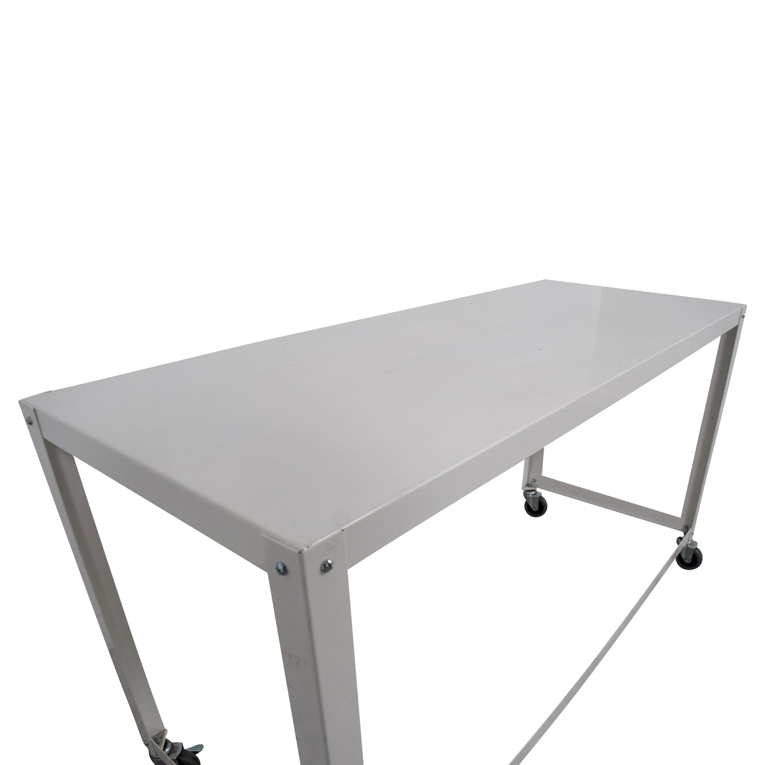 81% Off - Cb2 Cb2 Go-Cart White Rolling Desk / Tables within Go-Cart White Rolling Coffee Tables (Image 5 of 30)
