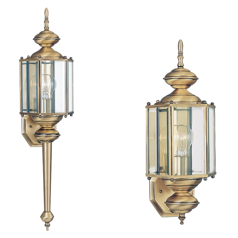 8510 01,one Light Outdoor Wall Lantern,antique Brass Inside Brass Outdoor Lanterns (Photo 3 of 20)