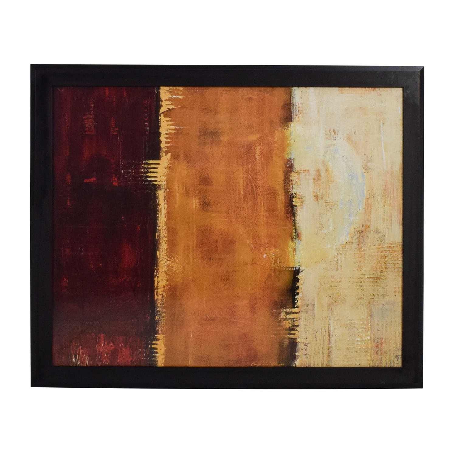 88% Off   Z Gallerie Z Gallerie Framed Canvas Red Orange Yellow Wall Within Z Gallerie Wall Art (Photo 9 of 20)
