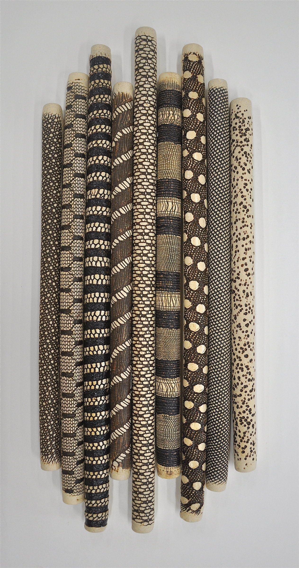 9-Piece Installationkelly Jean Ohl (Ceramic Wall Sculpture intended for Ceramic Wall Art (Image 3 of 20)