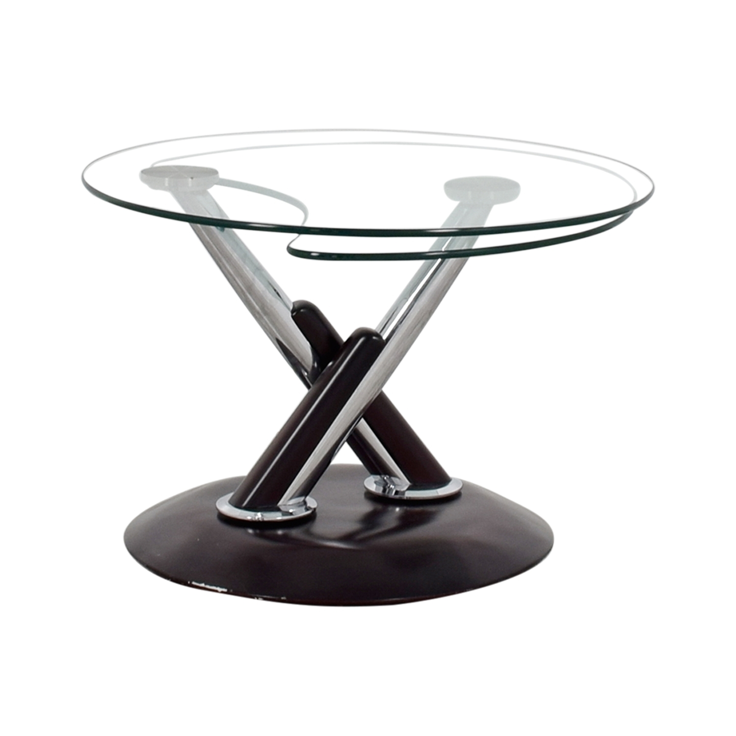 90% Off - Rotating Glass Table / Tables inside Spin Rotating Coffee Tables (Image 4 of 30)