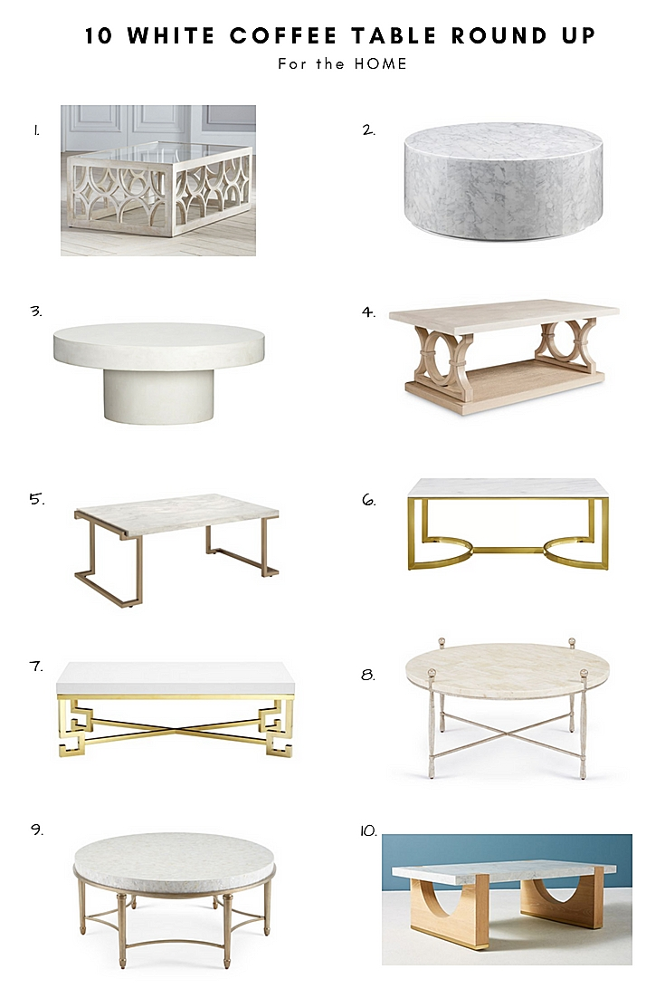 A Glad Diary: 10 White Coffee Table Round Up throughout Shroom Coffee Tables (Image 4 of 30)
