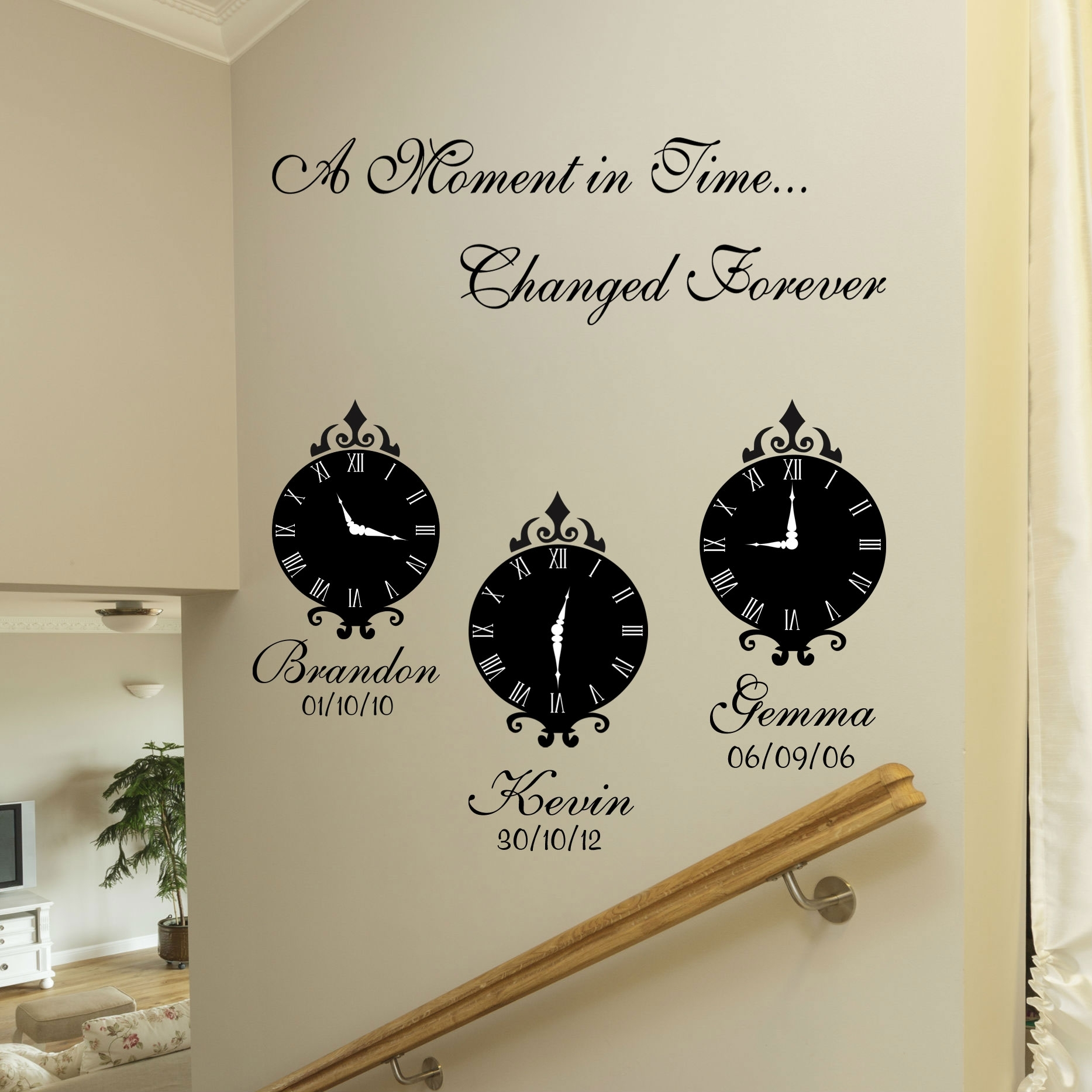 A Moment In Time Wall Art Stickers Intended For Wall Art Stickers (View 10 of 20)