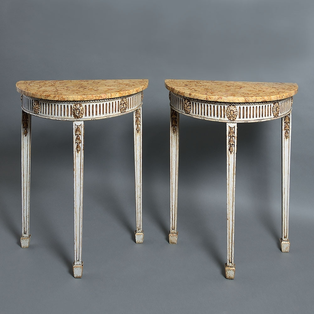 A Pair Of Late 19Th Century Adam Style Console Tables - Timothy Langston regarding Adam Coffee Tables (Image 1 of 30)