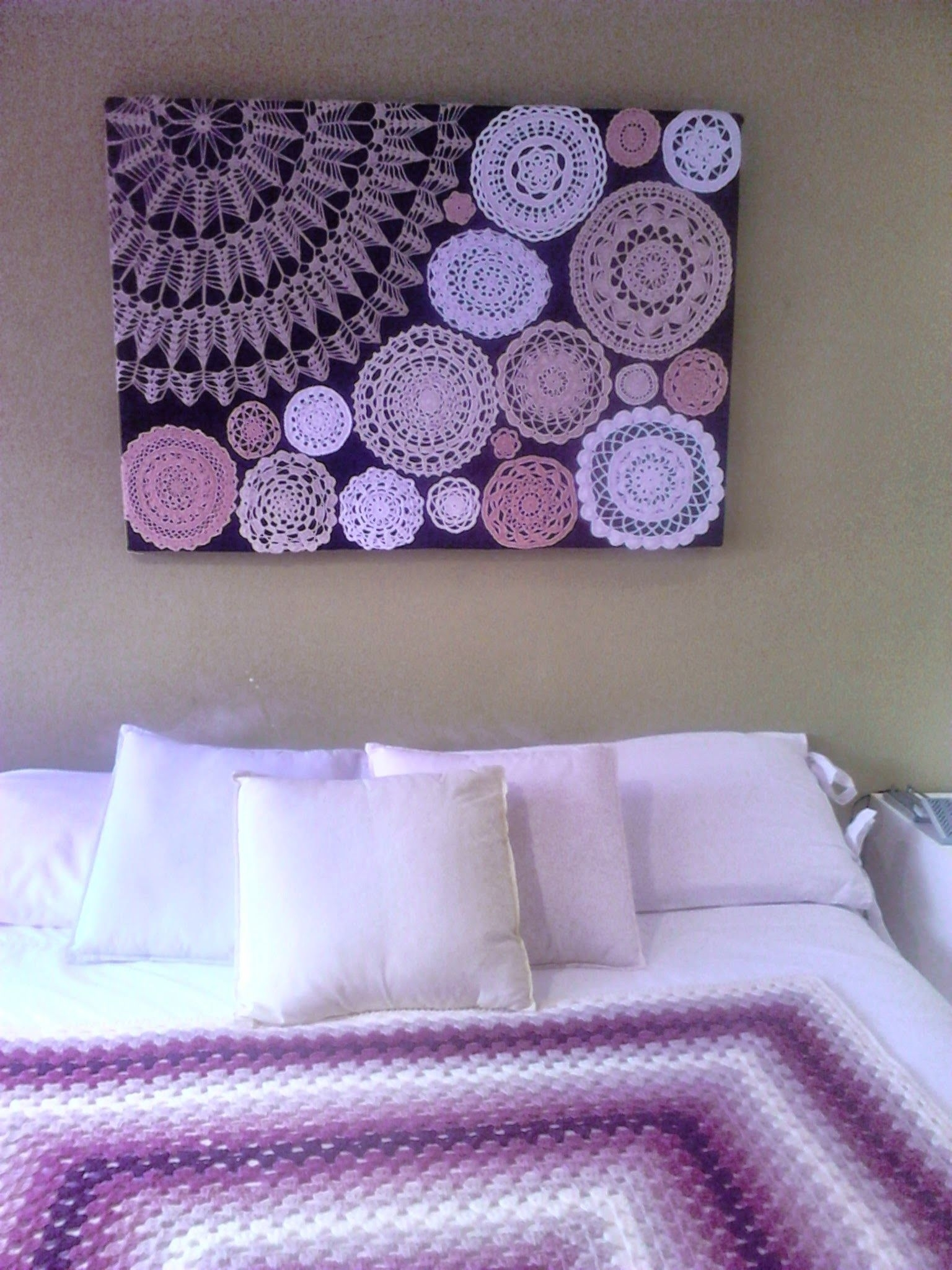 A Quick Sharesies! | Ball Workouts | Pinterest | Crochet Doilies regarding Crochet Wall Art (Image 2 of 20)