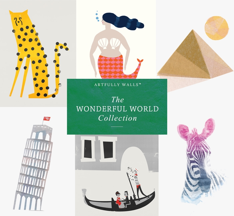 A Wonderful World | Artfully Walls with Artfully Walls (Image 3 of 20)