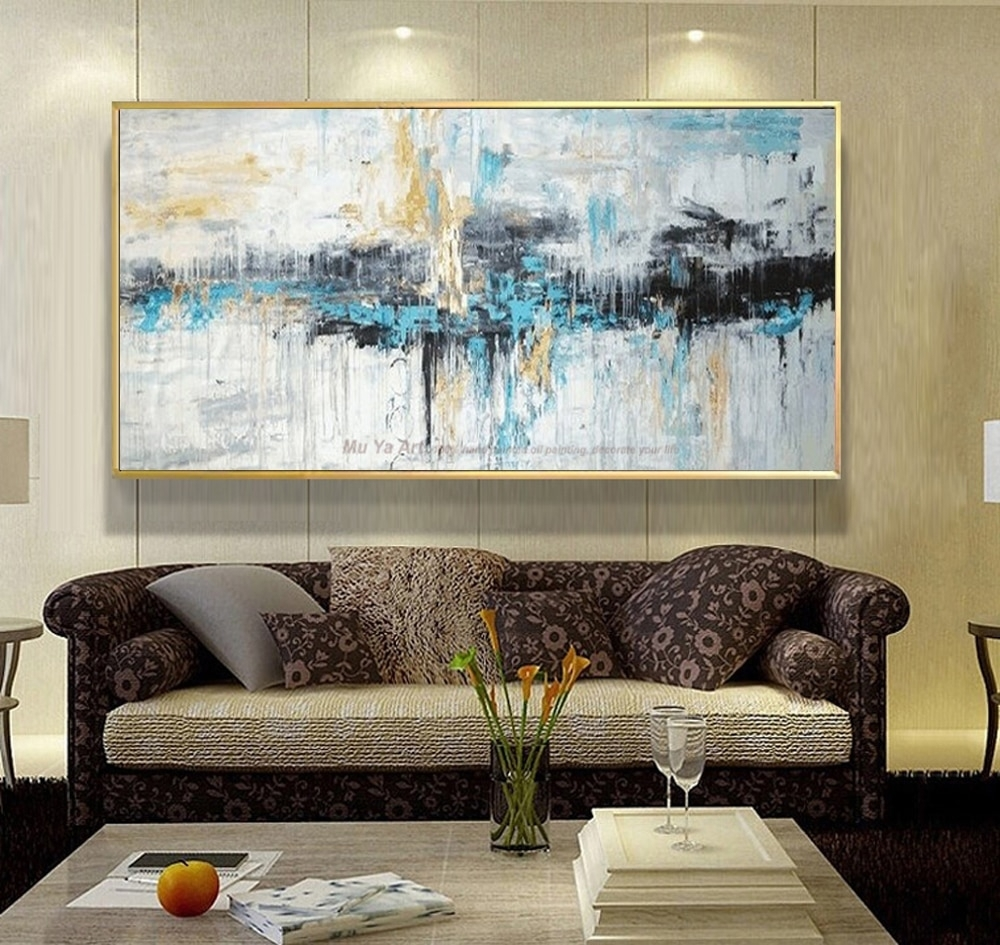 Abstract Art Painting Modern Wall Art Canvas Pictures Large Wall Pertaining To Large Contemporary Wall Art (View 6 of 20)