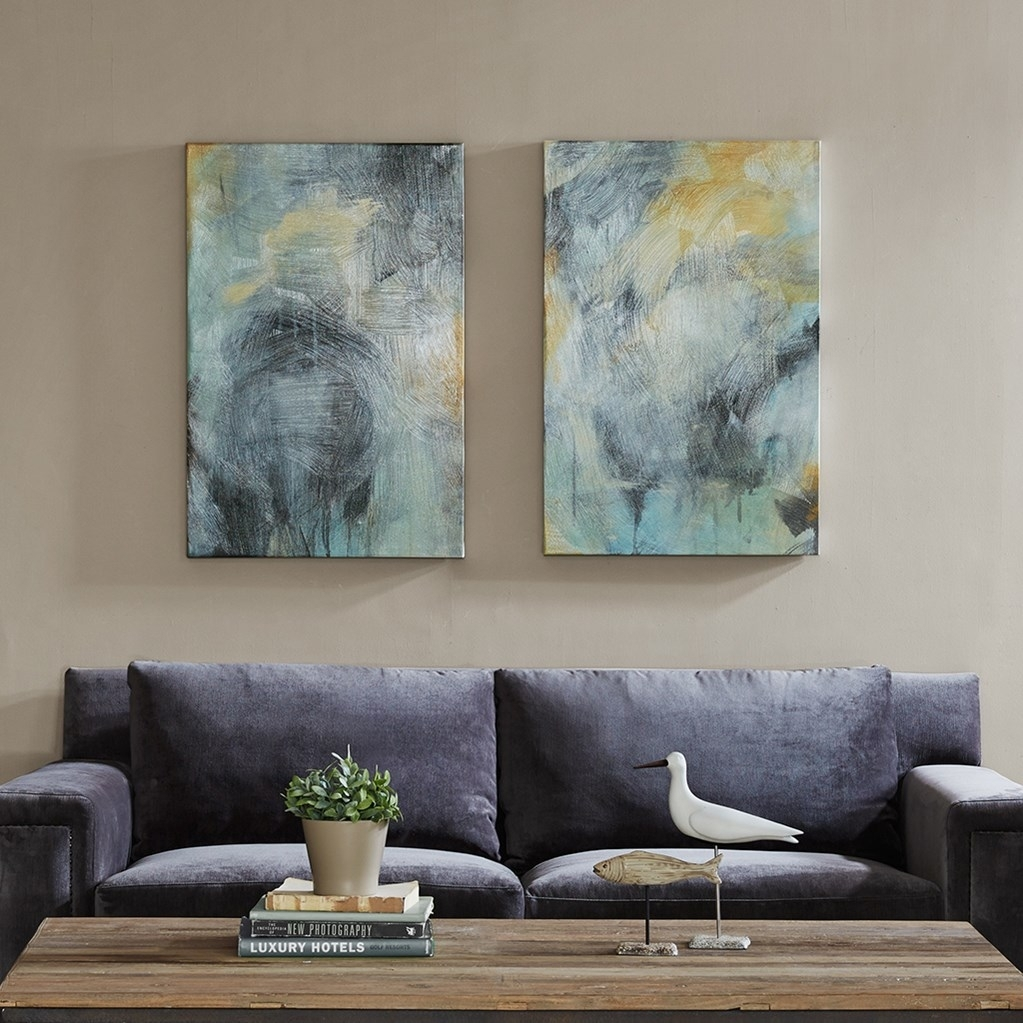 Abstract Canvas Wall Art Blues pertaining to Abstract Canvas Wall Art (Image 5 of 20)