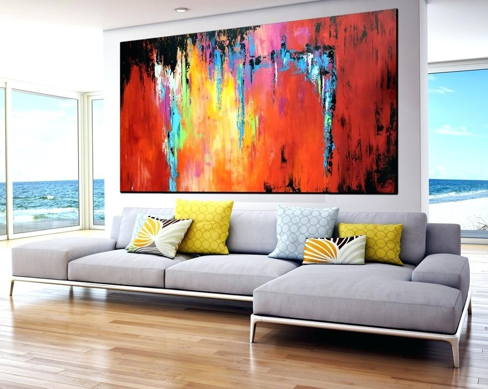 Abstract Contemporary Wall Art Extra Large Abstract Painting Large With Large Contemporary Wall Art (View 11 of 20)