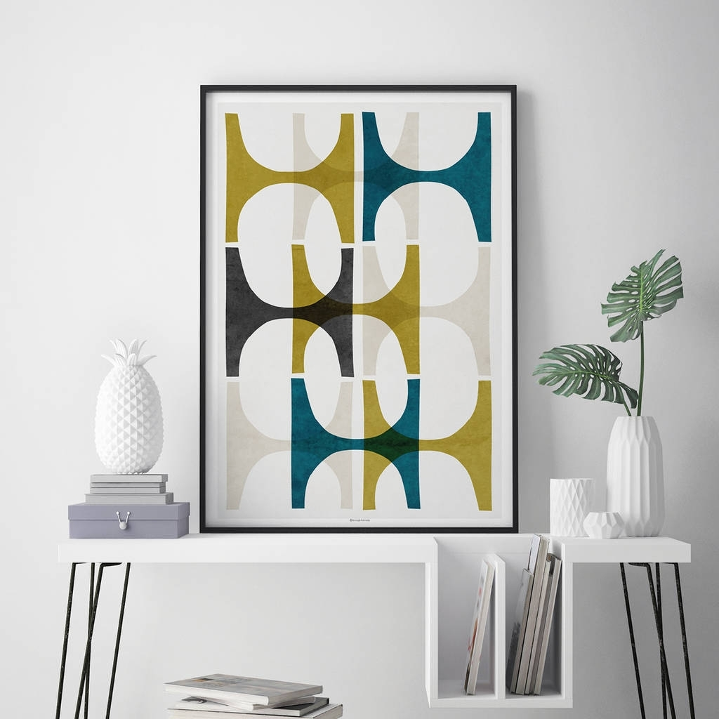 Abstract Geometric Wall Art Printbronagh Kennedy – Art Prints For Wall Art Prints (View 14 of 20)