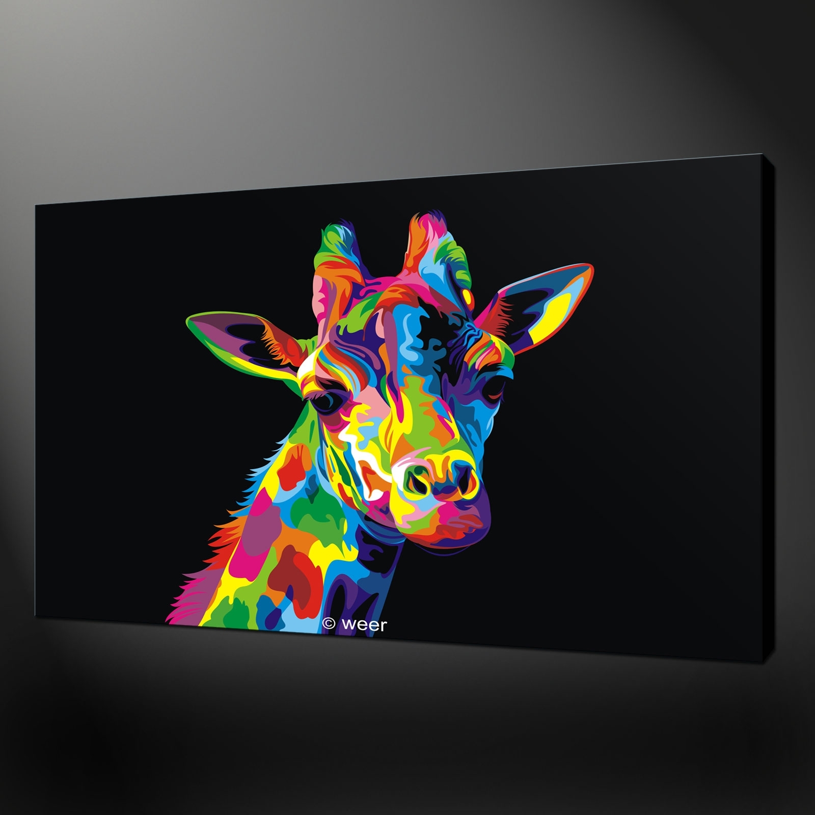 Abstract Giraffe Art, Giraffe Wall Art - Swinki Morskie within Giraffe Canvas Wall Art (Image 3 of 20)