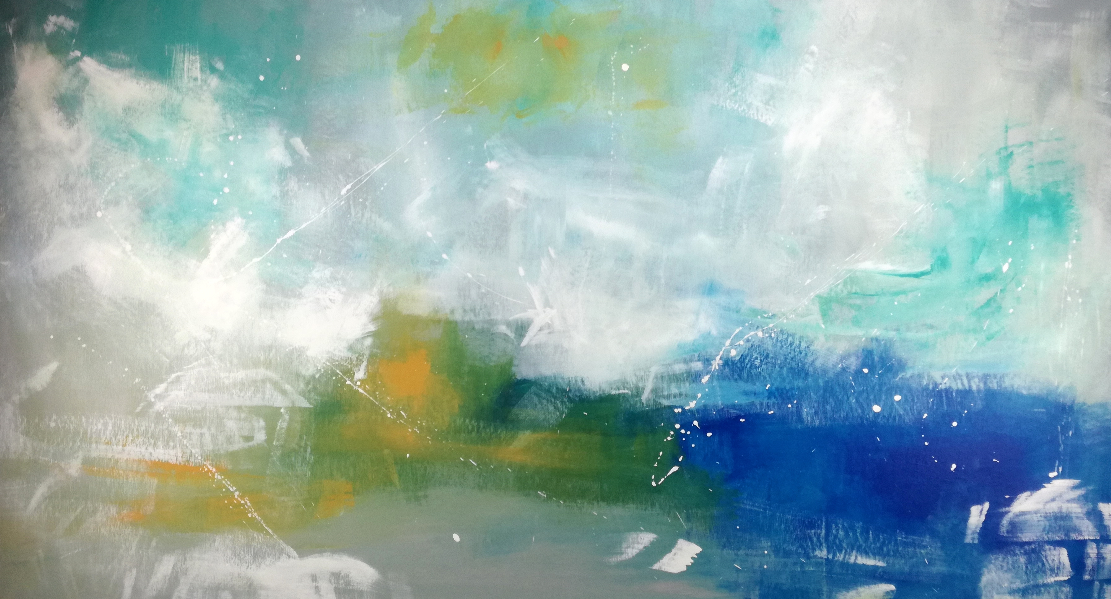 "Abstract Large Wall Art Horizontal 60""x32"" Landscape Pertaining To Horizontal Wall Art (View 10 of 20)"