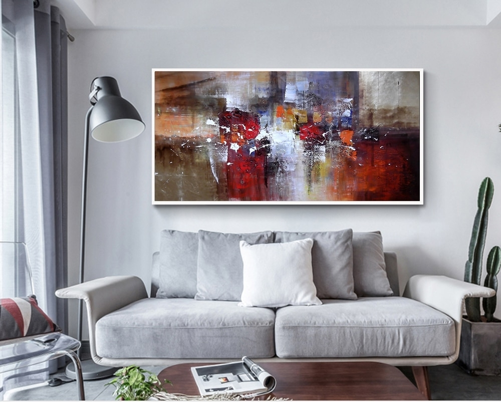 Abstract Modern Large Canvas Wall Art Huge Handmade Oil Painting within Modern Large Canvas Wall Art (Image 10 of 20)