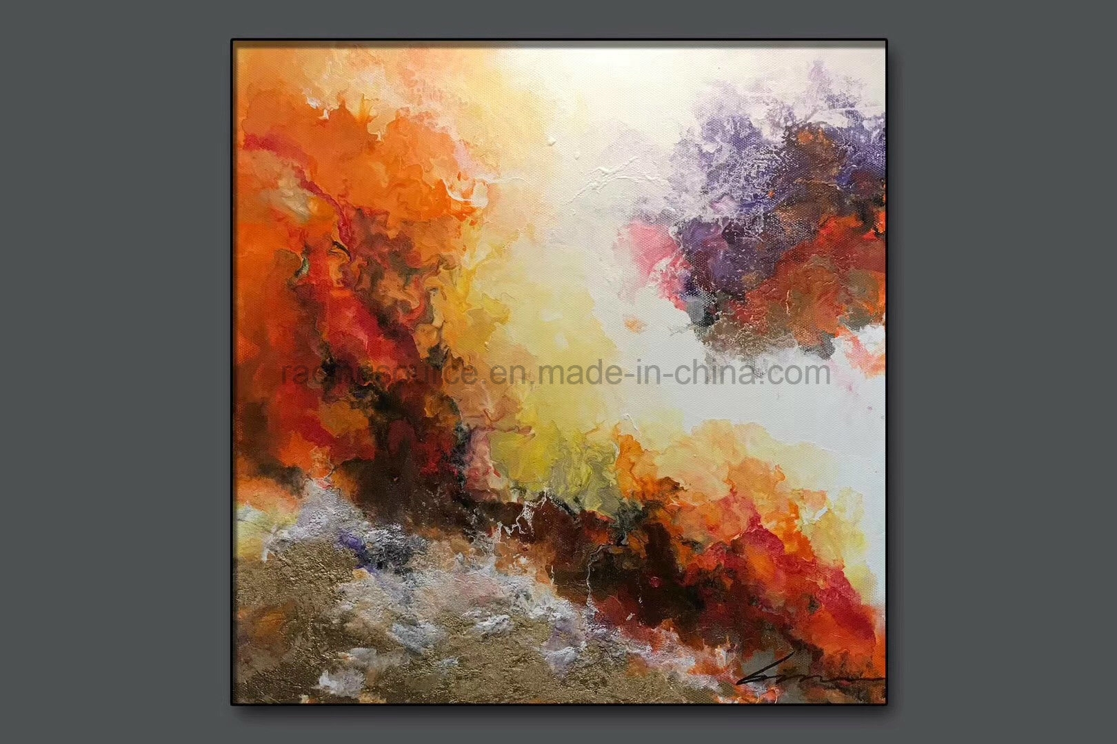 Abstract Oil Paintings On Canvas China Hotel Wall Decor Abstract Oil inside Abstract Oil Painting Wall Art (Image 11 of 20)