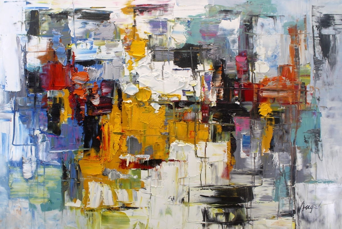 Abstract Painting (Angel Chau) pertaining to Abstract Wall Art (Image 5 of 20)