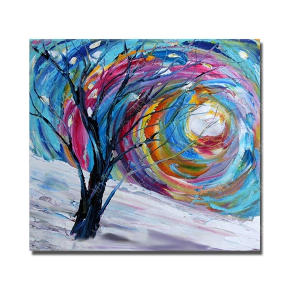 Abstract Tree Image Modern Canvas Art Painting For Home Decoration for Chinese Wall Art (Image 5 of 20)