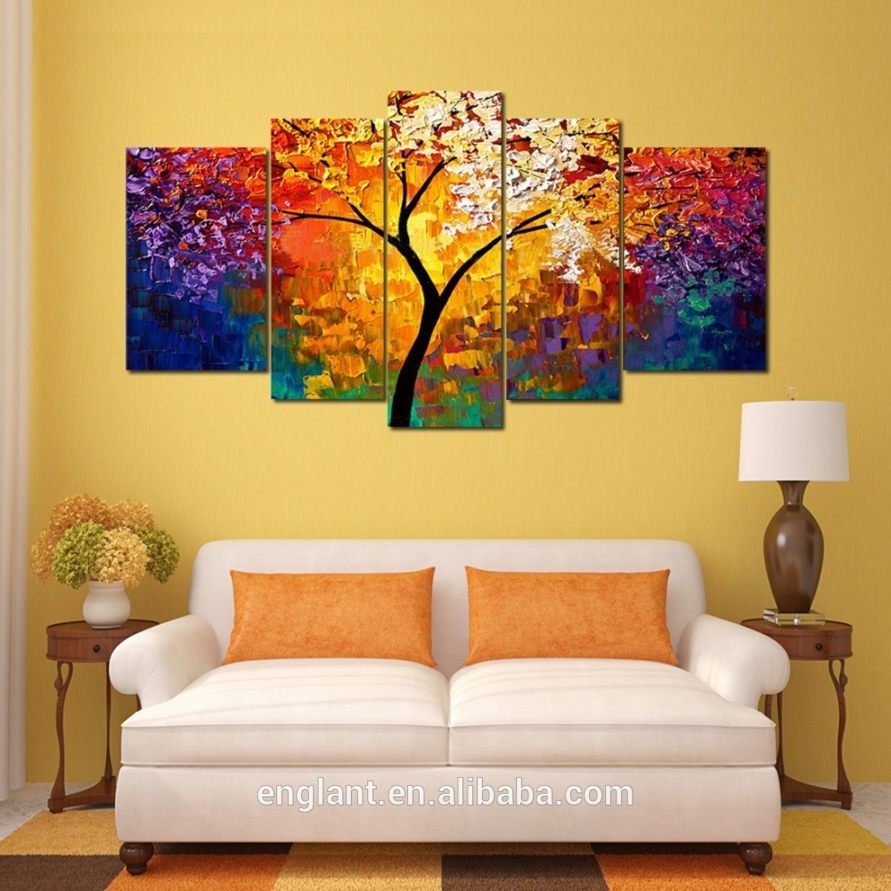 Abstract Wall Art Canvas Oil Painting Popular Wall Art Paintings with Wall Art Paintings (Image 6 of 20)