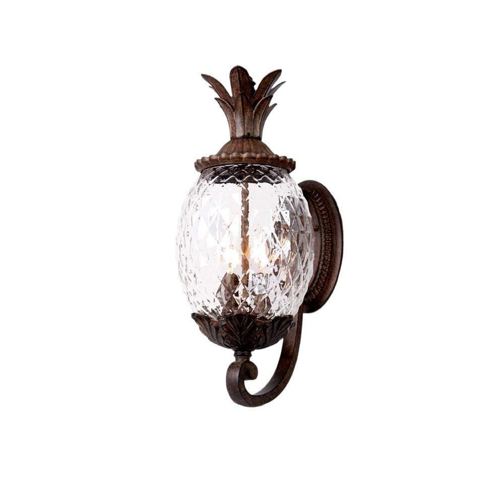 Acclaim 7511Bc Lanai Collection 3-Light Wall Mount Outdoor Light with Outdoor Pineapple Lanterns (Image 3 of 20)