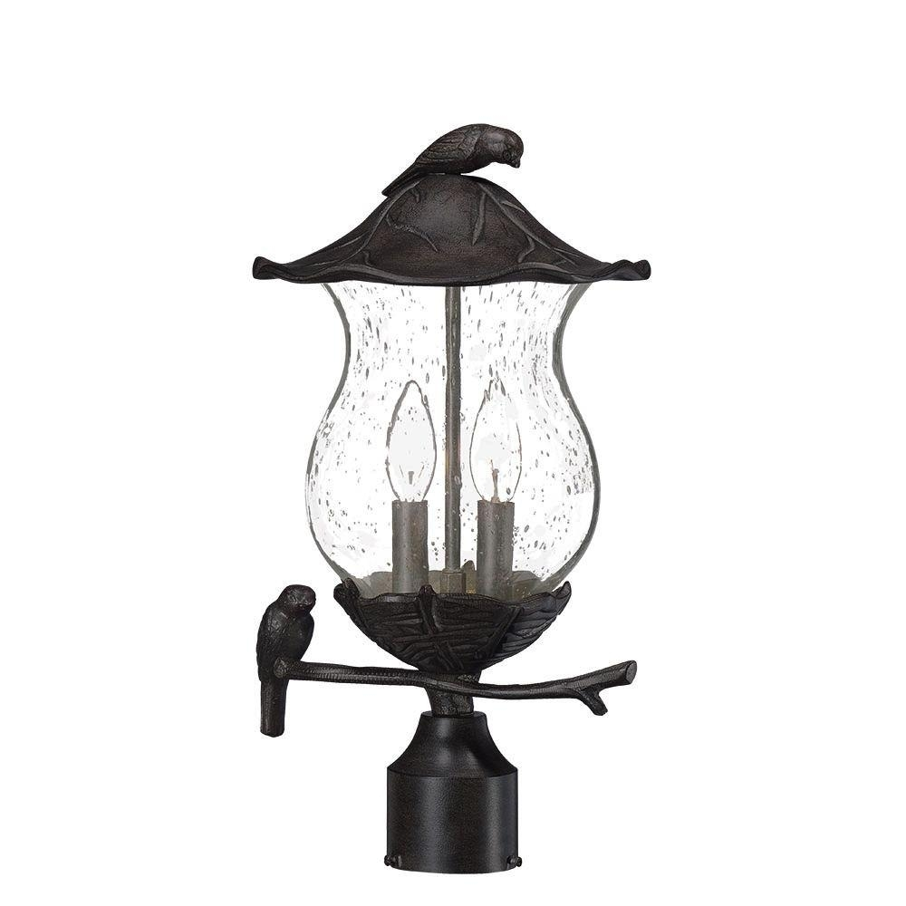 Acclaim Lighting Avian 2-Light Black Coral Outdoor Post Light pertaining to Outdoor Lanterns on Post (Image 1 of 20)
