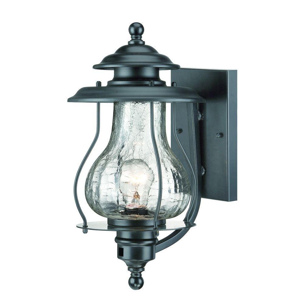 Acclaim Lighting Blue Ridge Collection 1-Light Matte Black Outdoor regarding Blue Outdoor Lanterns (Image 2 of 20)
