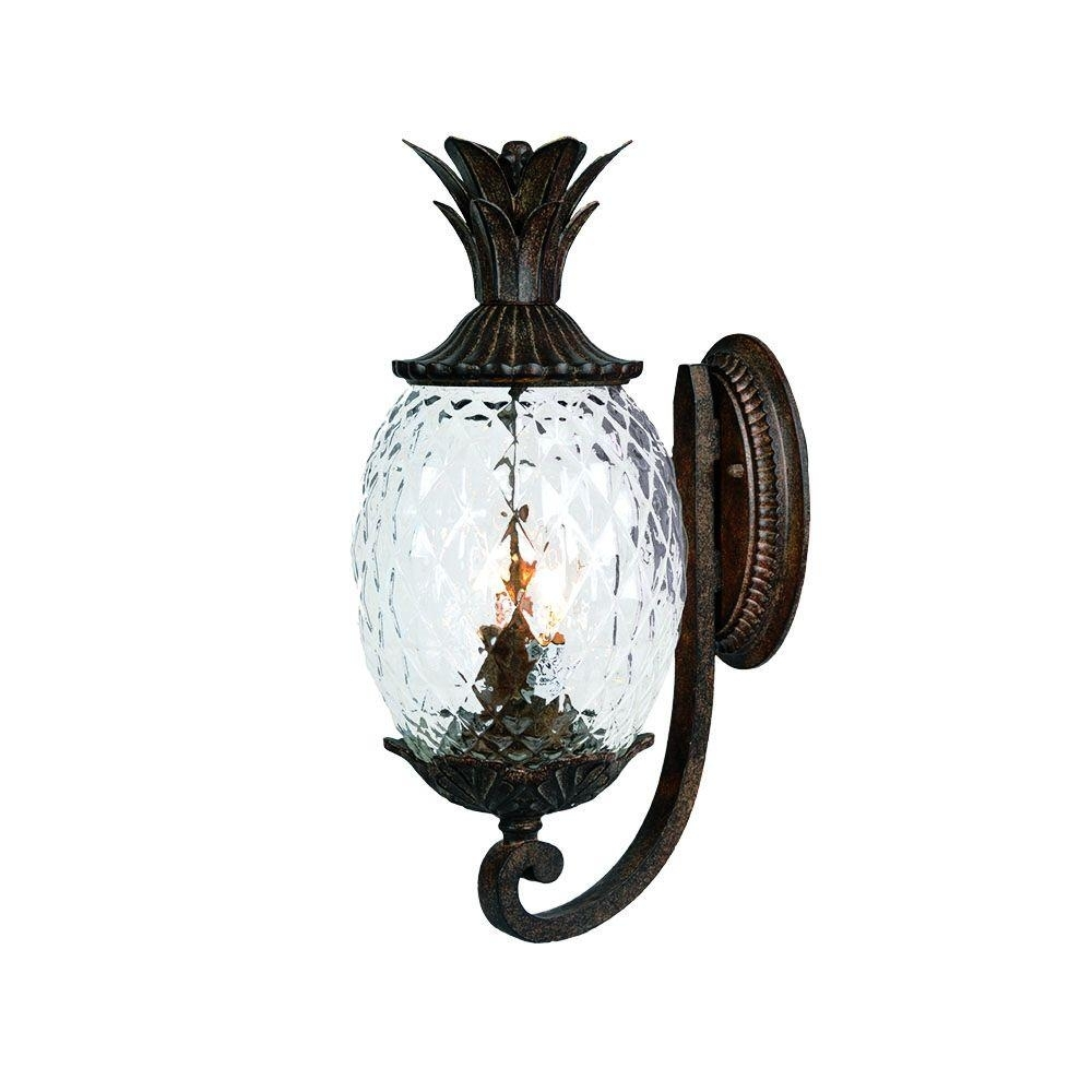 Acclaim Lighting Lanai Collection 2-Light Black Coral Outdoor Wall inside Outdoor Pineapple Lanterns (Image 5 of 20)