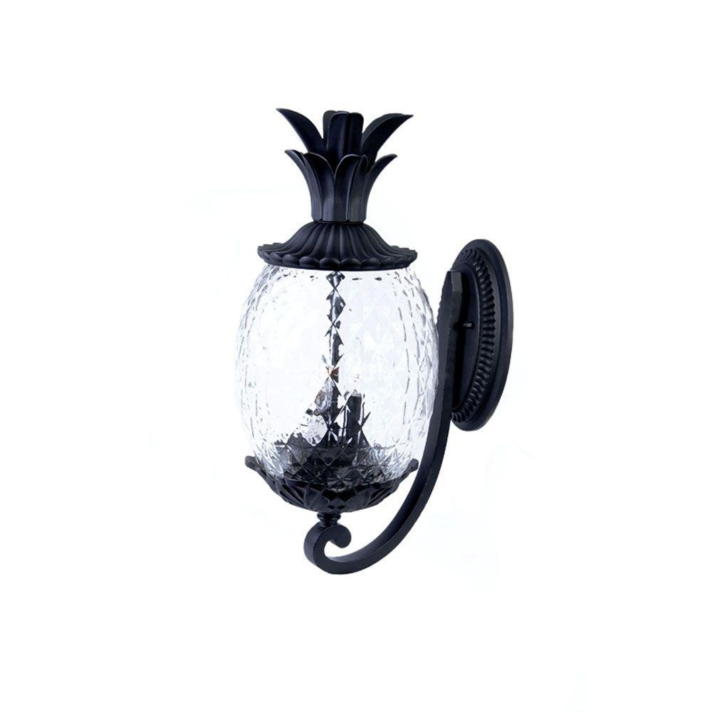 Acclaim Lighting Lanai Collection 2-Light Matte Black Outdoor Wall inside Outdoor Pineapple Lanterns (Image 6 of 20)