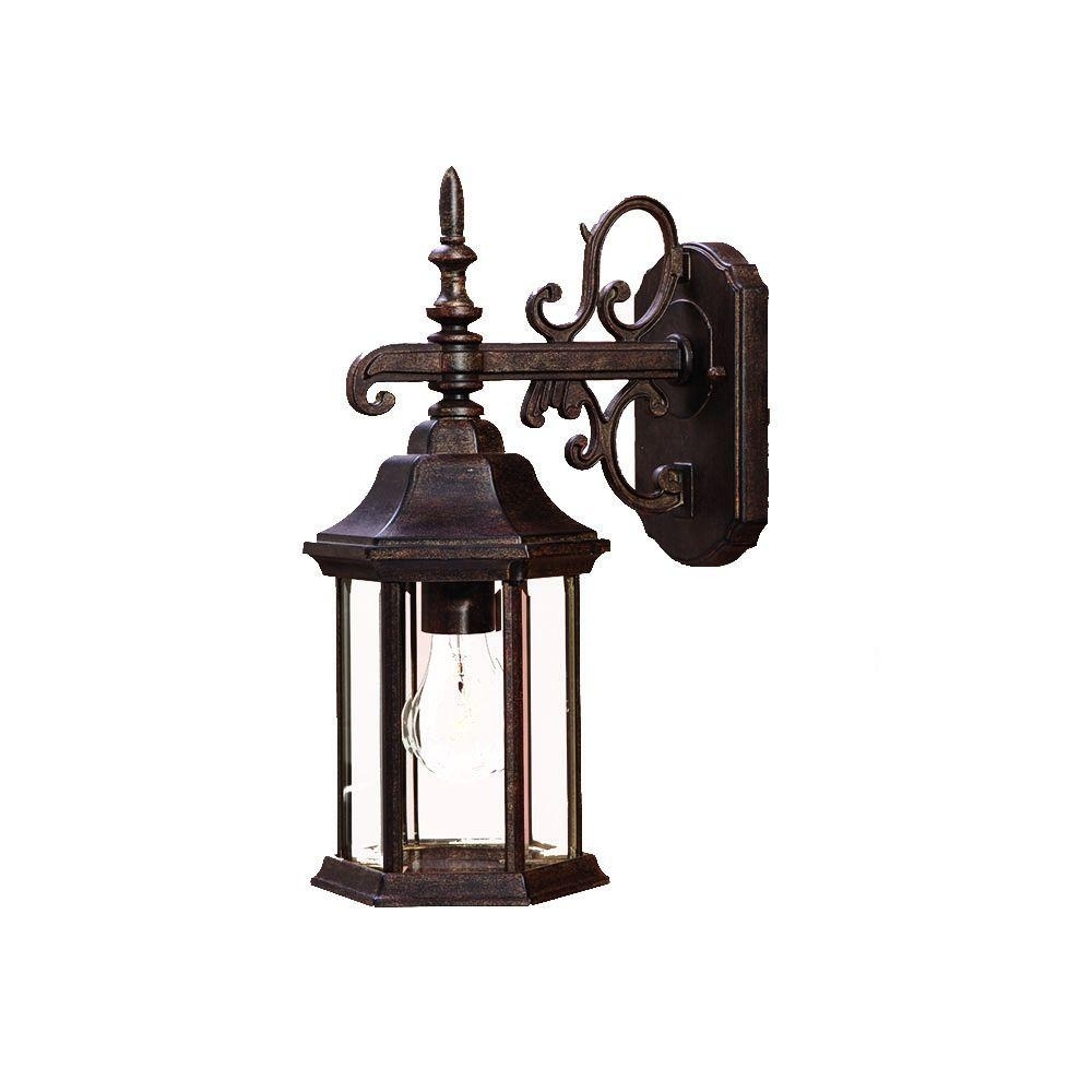 Acclaim Lighting Madison Collection 1 Light Black Coral Outdoor Wall Within Victorian Outdoor Lanterns (View 11 of 20)
