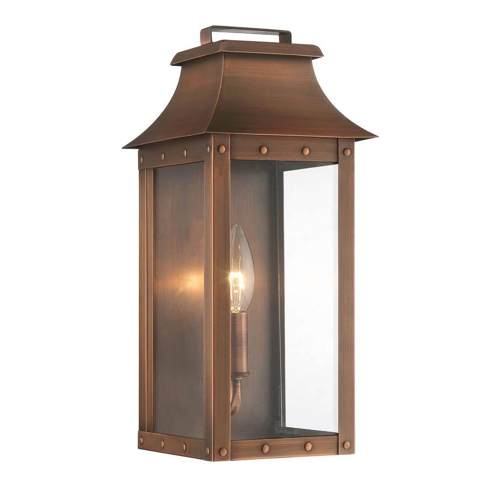 Acclaim Lighting Manchester Collection 1-Light Copper Patina Outdoor regarding Copper Outdoor Lanterns (Image 1 of 20)