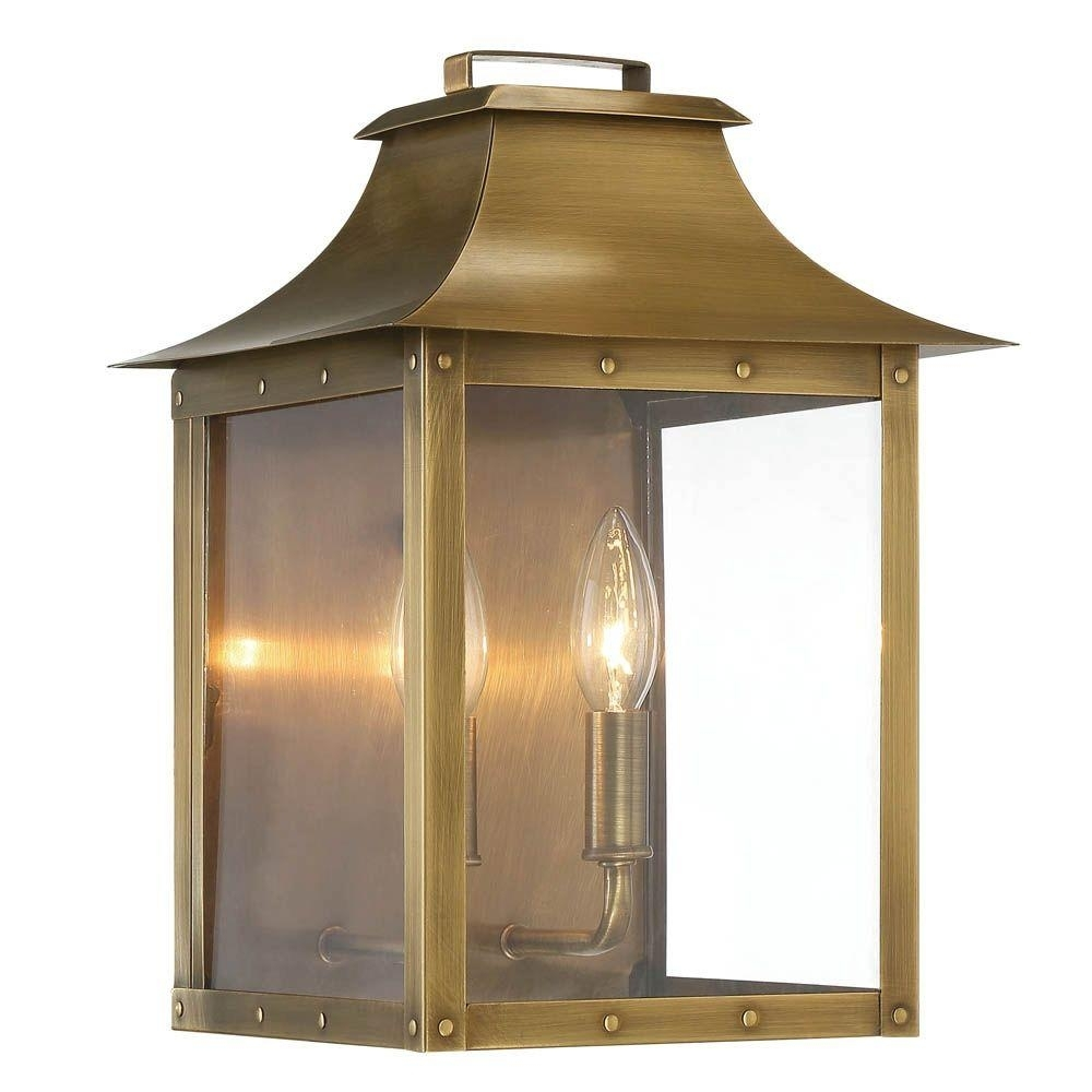 Acclaim Lighting Manchester Collection 2-Light Aged Brass Outdoor throughout Outdoor Big Lanterns (Image 2 of 20)