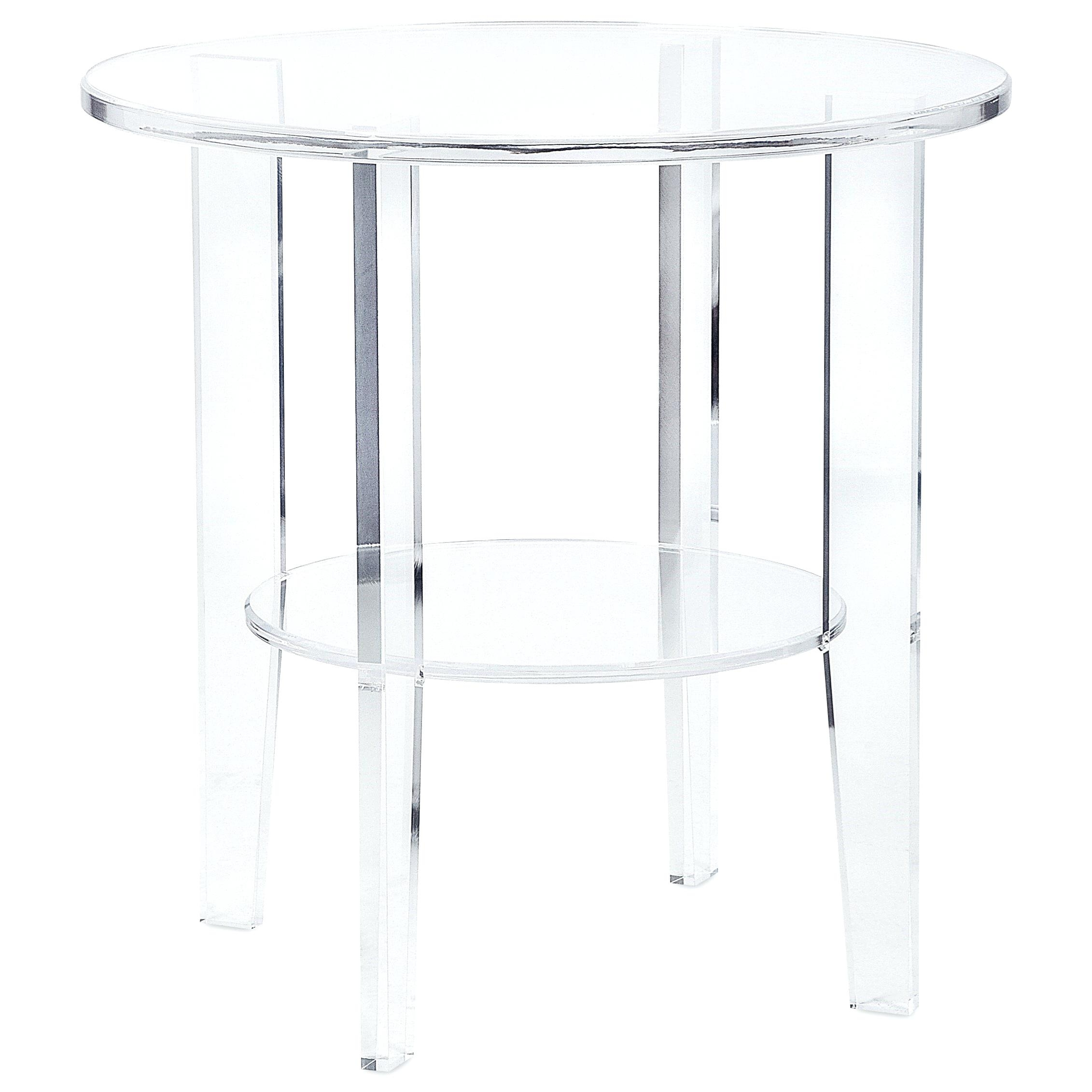 Acrylic Accent Tables Awesome Acrylic End Tables Acrylic Fabrication throughout Peekaboo Acrylic Tall Coffee Tables (Image 10 of 30)