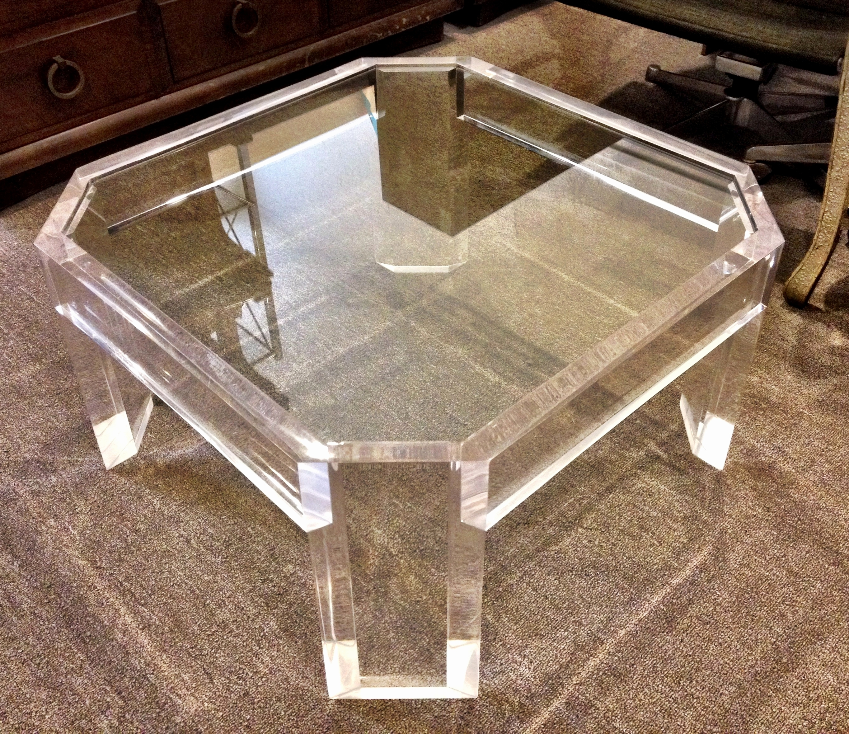 Acrylic And Glass Coffee Table Inspirational White Modern Side Table within Modern Acrylic Coffee Tables (Image 1 of 30)