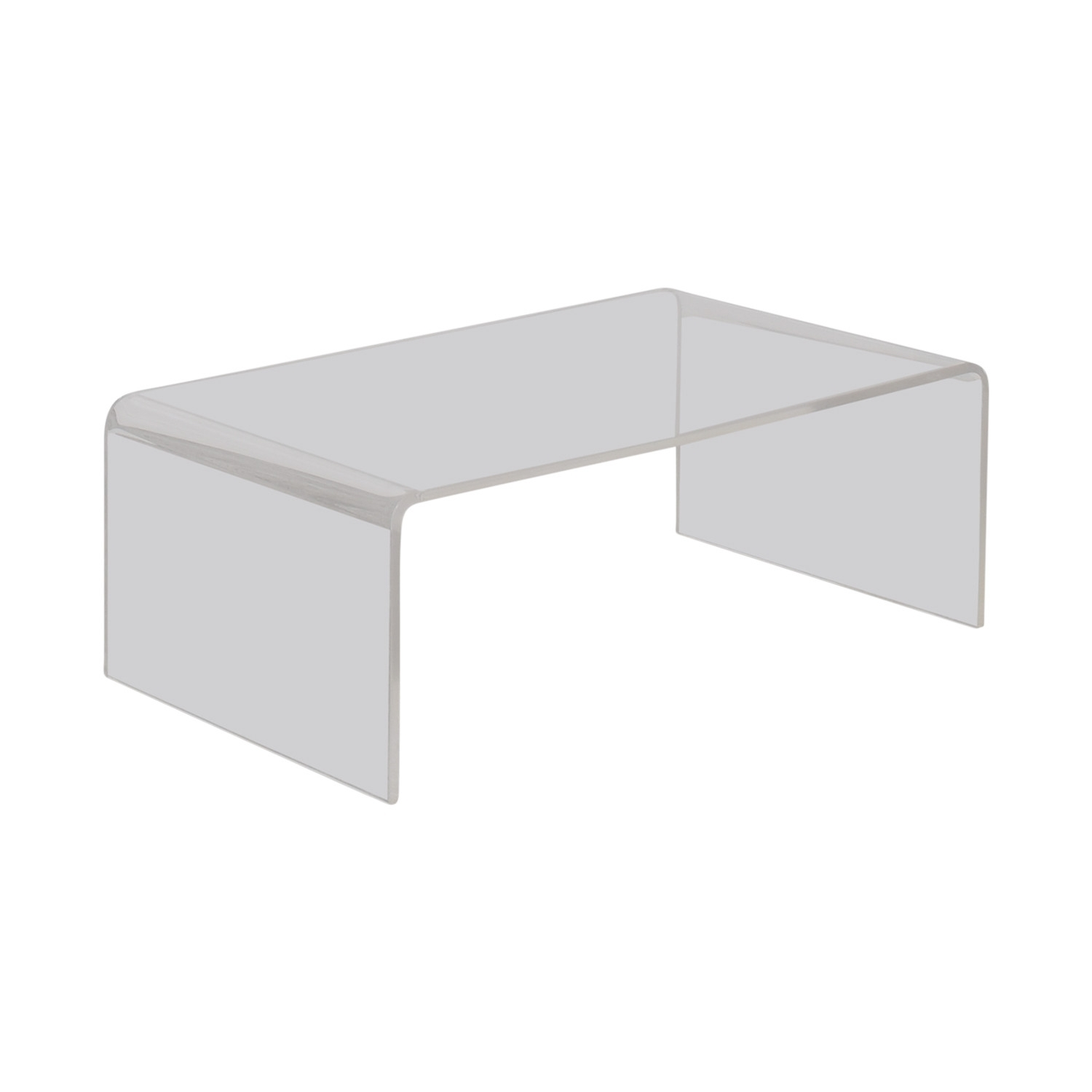 Acrylic Coffee Table For Sale Elegant 67% Off Cb2 Cb2 Peekaboo inside Peekaboo Acrylic Coffee Tables (Image 6 of 30)