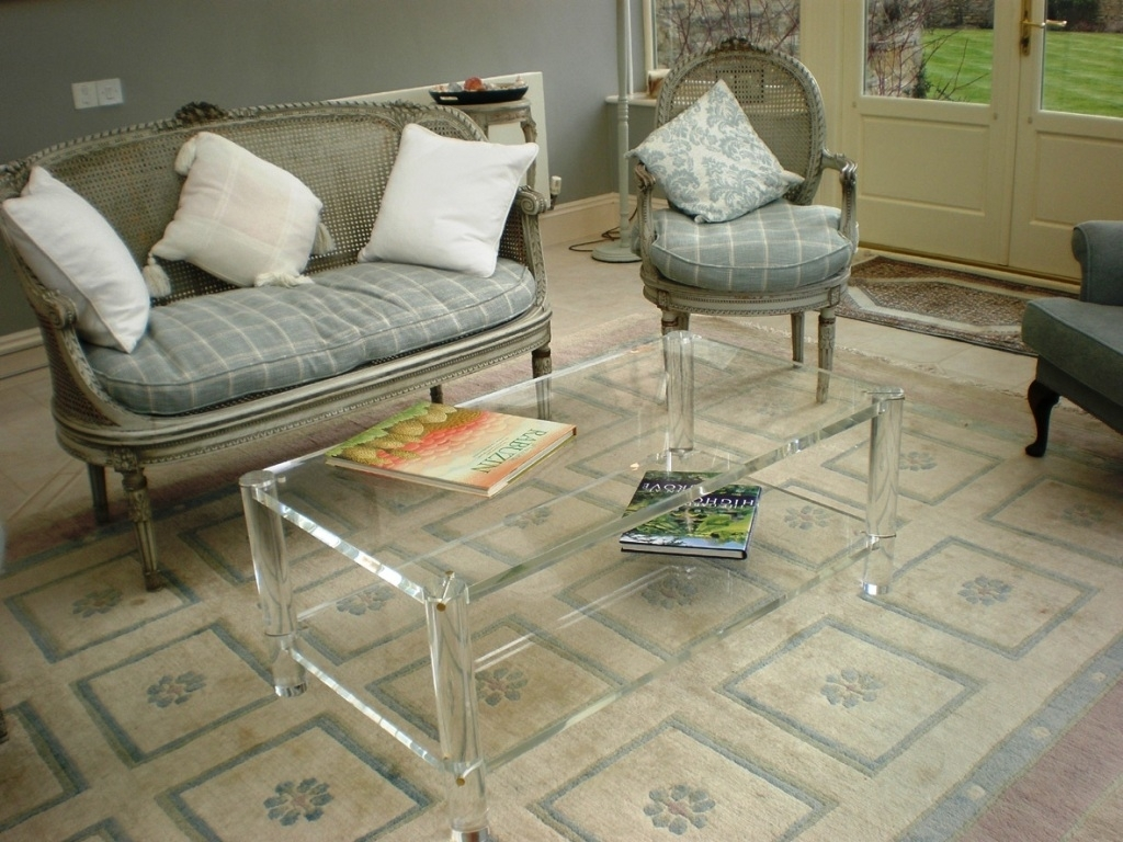 Acrylic Coffee Table With Shelf — Smart Architechtures : How To Pertaining To Stately Acrylic Coffee Tables (View 2 of 30)