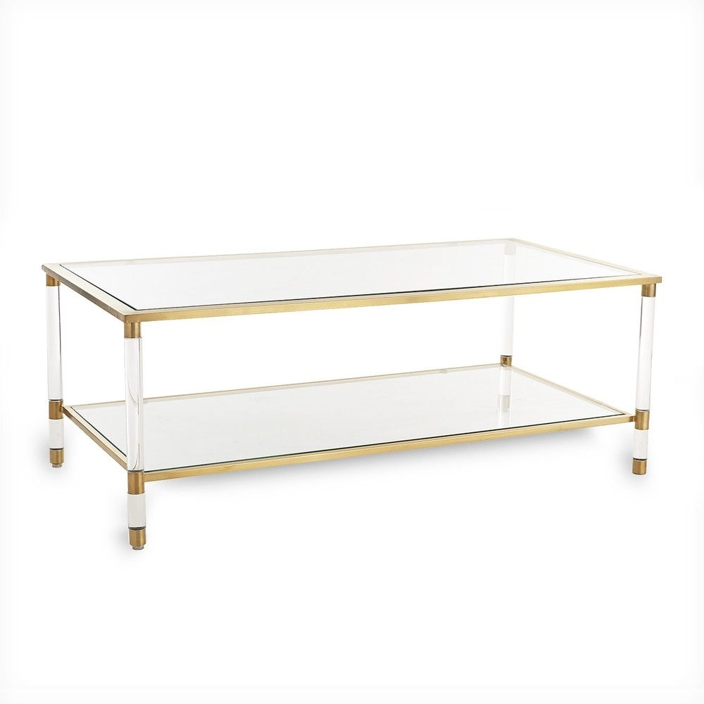 Acrylic, Glass And Brass Coffee Table | Project: Hl In La in Acrylic Glass and Brass Coffee Tables (Image 7 of 30)