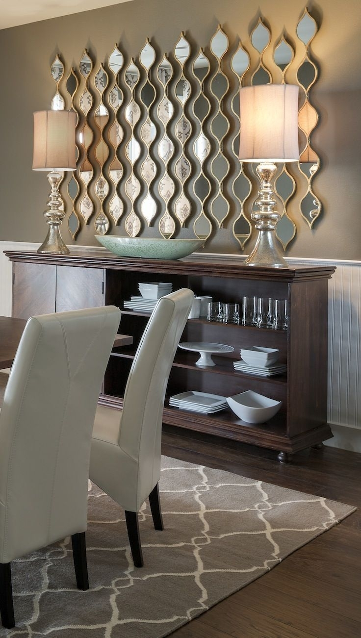 Adding Multiple Little Mirrors Instead Of One Large Mirror Adds for Mirrored Wall Art (Image 1 of 20)