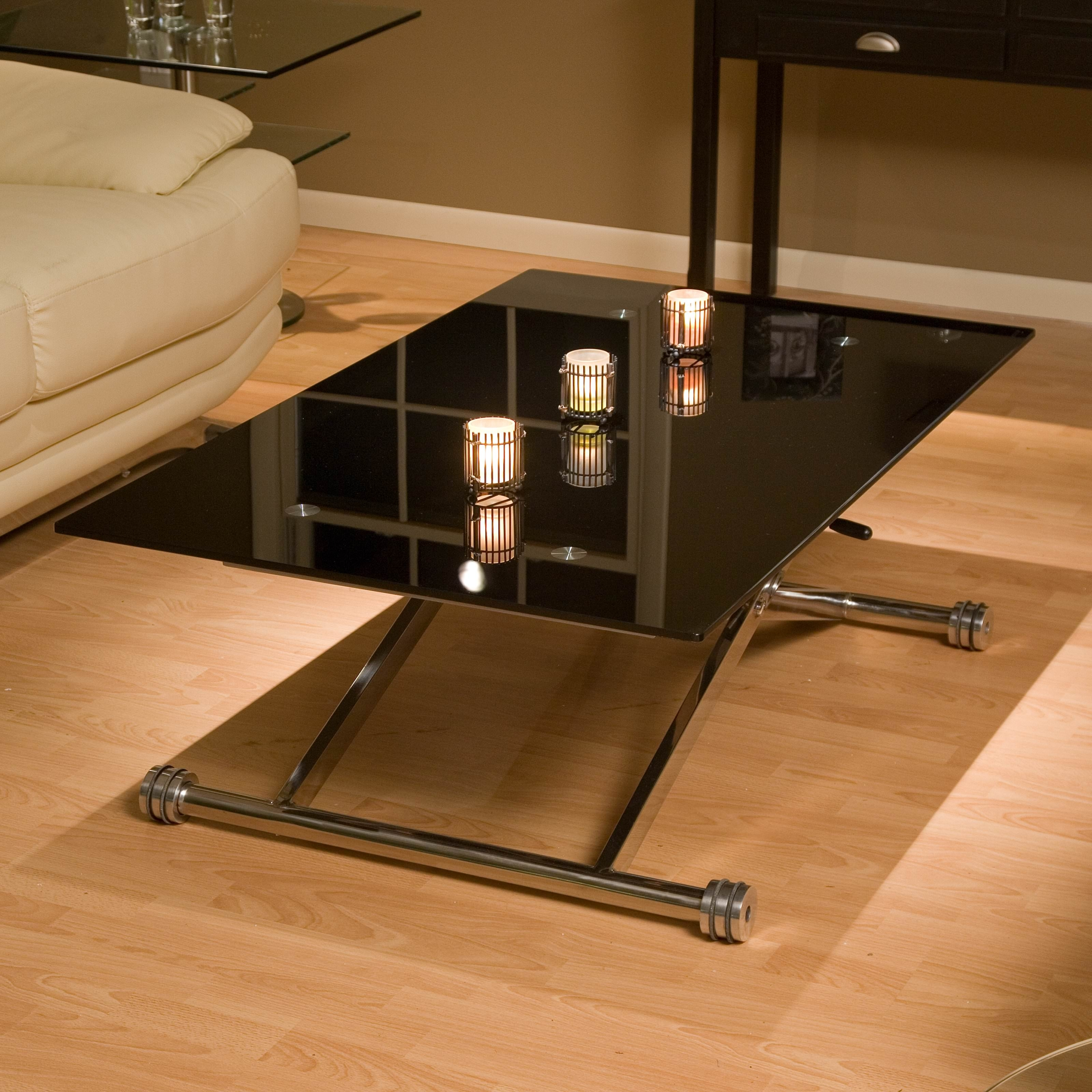 Adjustable Height Coffee Table Glass Top — Sushi Ichimura Decor Within Smart Glass Top Coffee Tables (View 3 of 30)