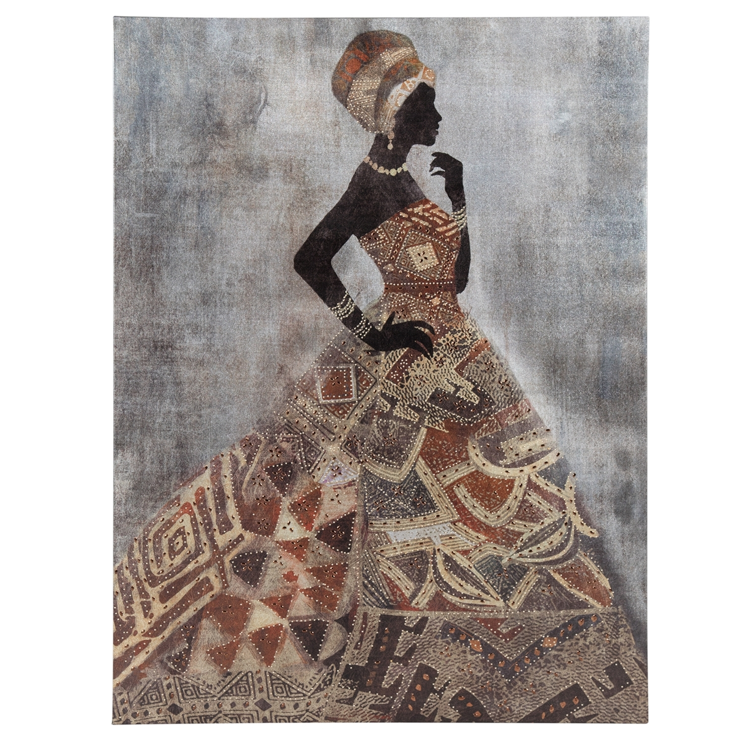 Adorned African Ladies Canvas for African Wall Art (Image 2 of 20)