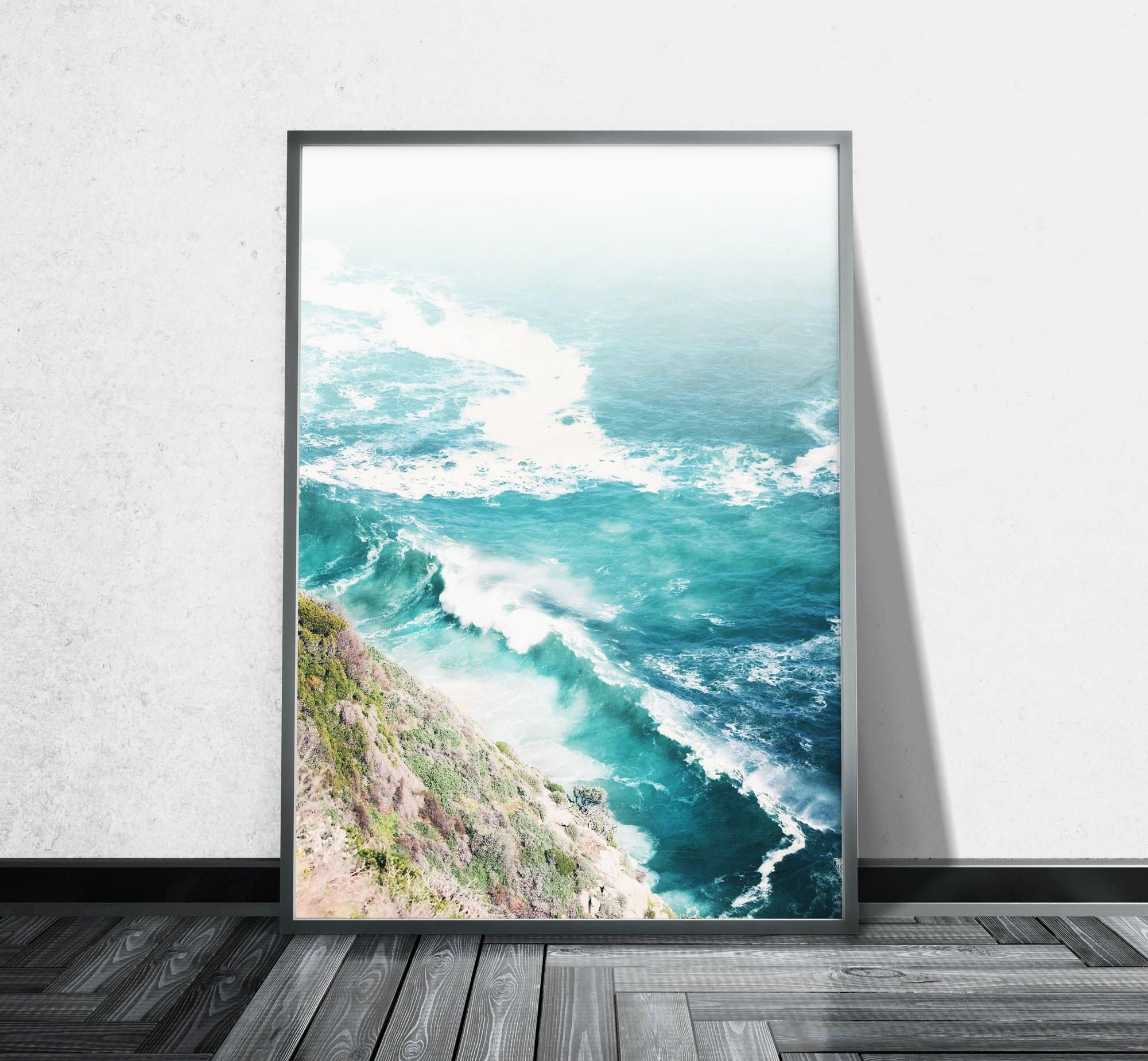 Aerial Beach Photography Ocean Canvas Wall Art Aerial Photography regarding Ocean Wall Art (Image 5 of 20)