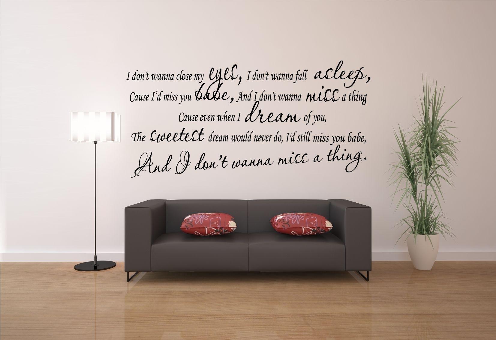 Aerosmith-I-Don-T-Wanna-Close-My-Eyes-Song-Lyrics-Wall-Art-Decal throughout Song Lyric Wall Art (Image 2 of 20)