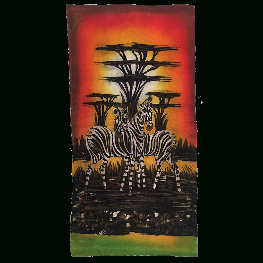 African Canvas Wall Art Wax Painting - Chicafric pertaining to African Wall Art (Image 4 of 20)