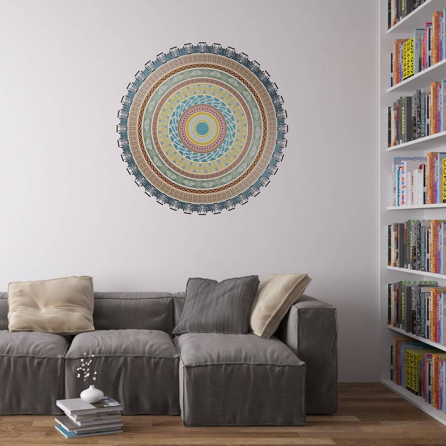 African Mandala Vinyl Wall Art Stickervinyl Revolution with Mandala Wall Art (Image 2 of 20)