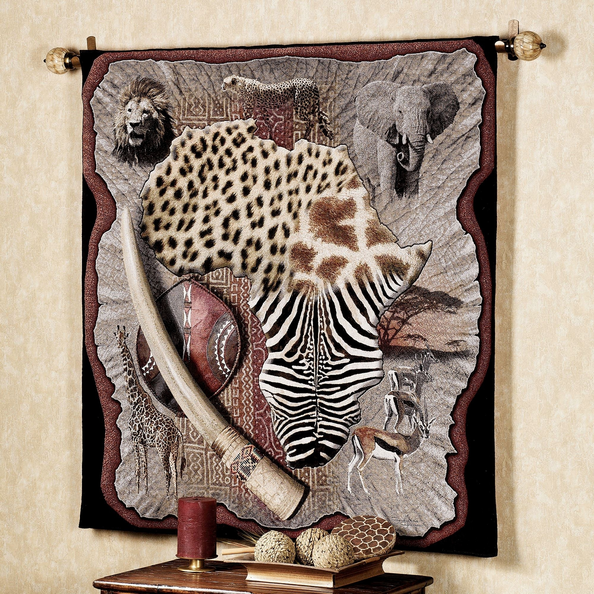 African Wall Art Ideal Decor And Plus Decoration Scenic Images intended for African Wall Art (Image 6 of 20)