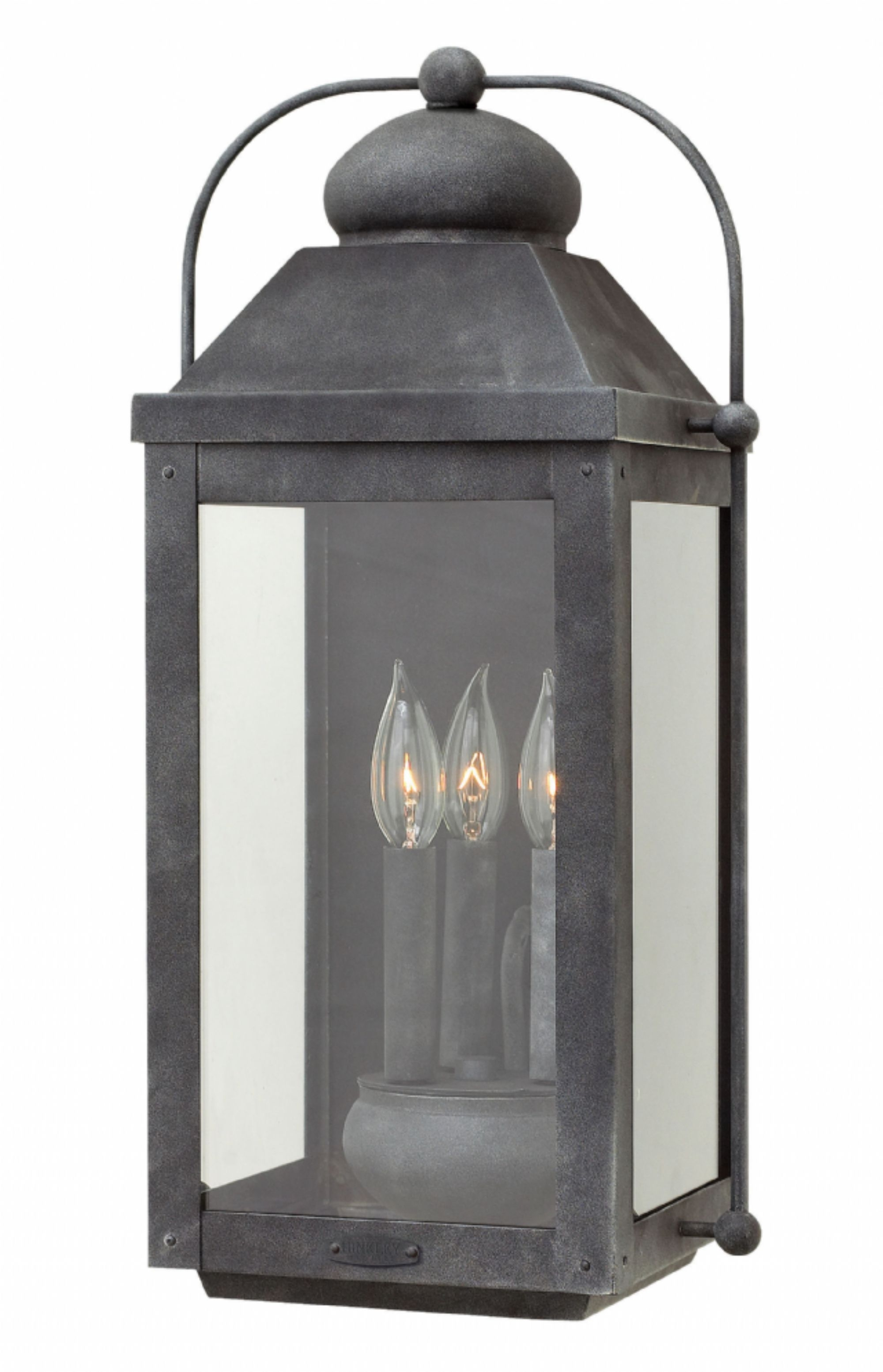 Aged Zinc Anchorage > Exterior Wall Mount for Zinc Outdoor Lanterns (Image 1 of 20)