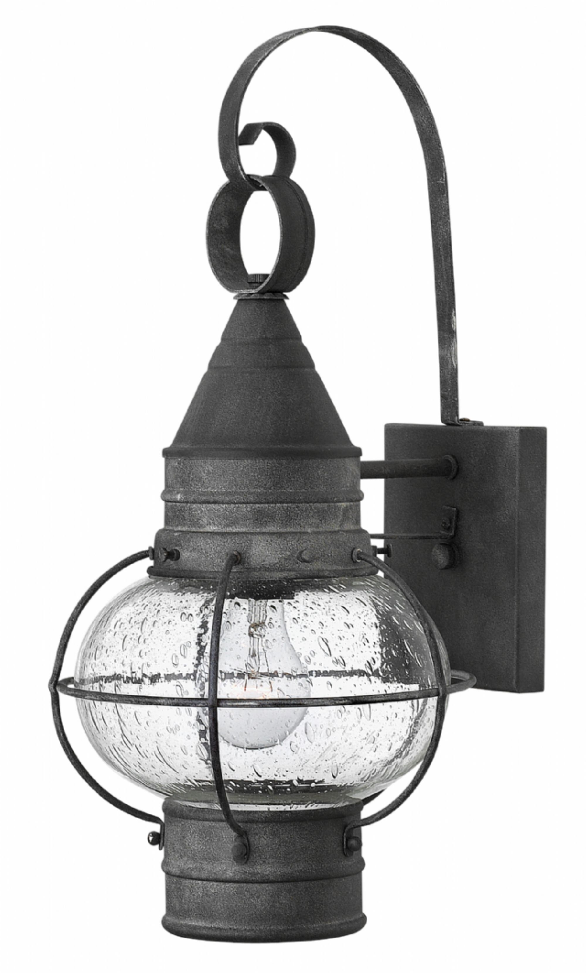 Aged Zinc Cape Cod > Exterior Wall Mount with Zinc Outdoor Lanterns (Image 2 of 20)