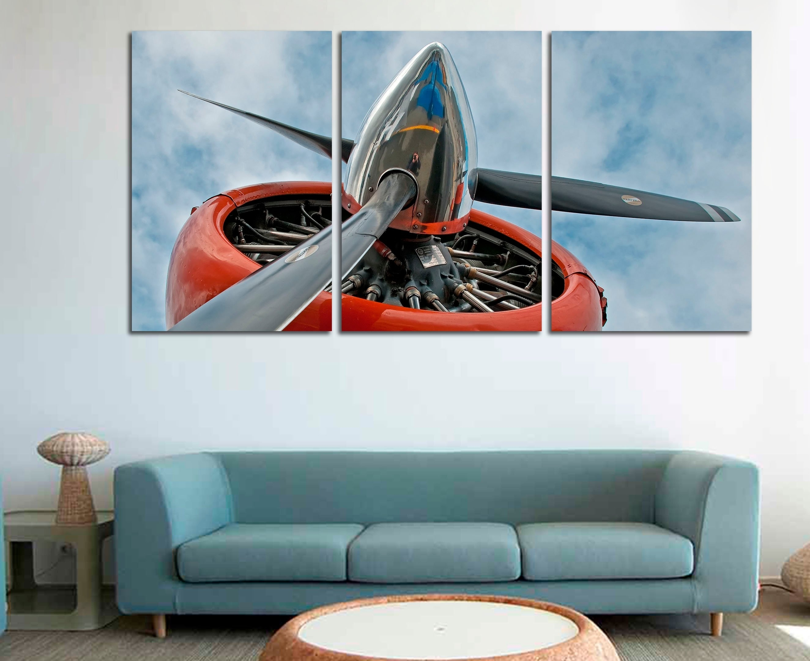 Airplane Wall Art Airplane Wall Decor Airplane Decor Airplane | Etsy with Airplane Wall Art (Image 7 of 20)