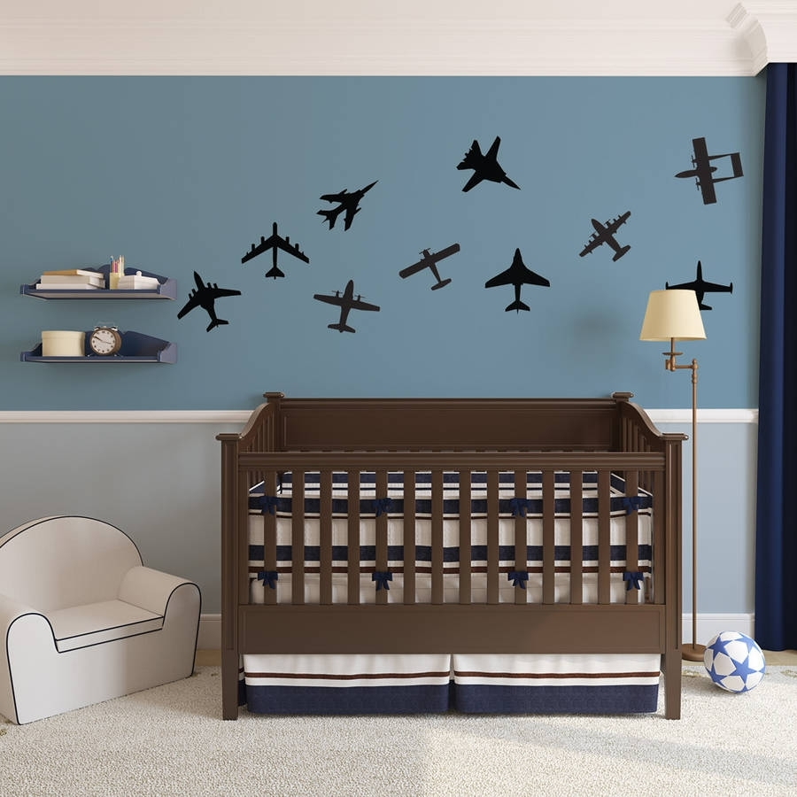 Airplanes Wall Art Decal Pack For Kidsvinyl Revolution in Airplane Wall Art (Image 11 of 20)